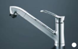 シャワーホース付き水栓